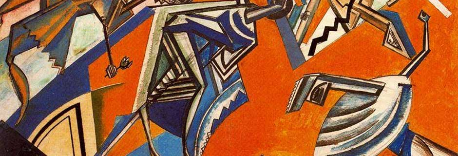 Dancing Figures by Wyndham Lewis